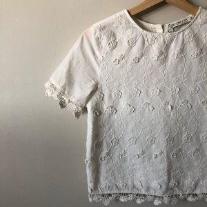 Embroidery guipure Zara top